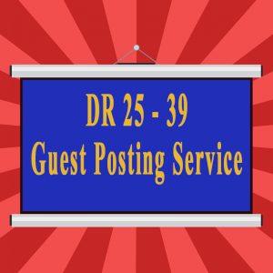 DR 25-39 Guest Posting Service